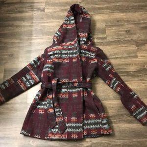 Aztec style print winter coat